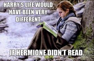 hermoine reading