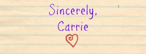 sincerely carrie