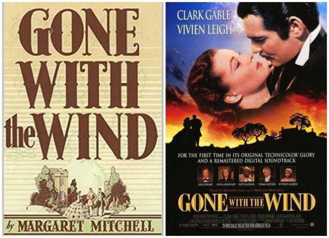 gone with the wind collage